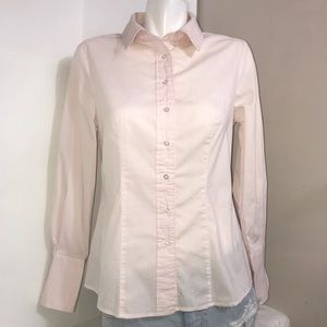 Suzy Shier Blush Pink Tailor Fit Button DownShirt